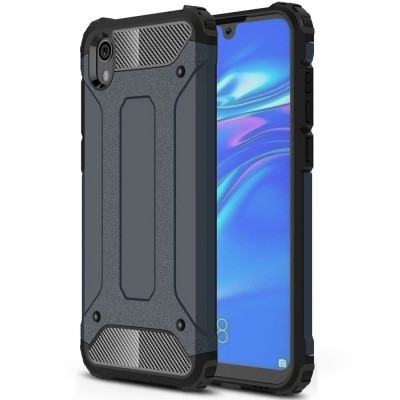 OEM Hybrid Armor Case Tough Rugged Cover for Huawei Y5 (2019) - Blue (200-105-969)