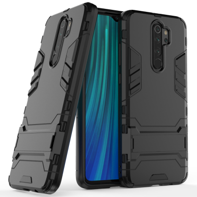 OEM Ανθεκτική θήκη Stand Armor Xiaomi Redmi Note 8 Pro - Black (200-105-079)
