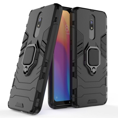 Ring Armor Case Kickstand Tough Rugged Cover for Xiaomi Redmi 8A - Black (200-105-088)