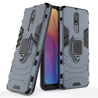Ring Armor Case Kickstand Tough Rugged Cover for Xiaomi Redmi 8A - Blue (200-105-089)
