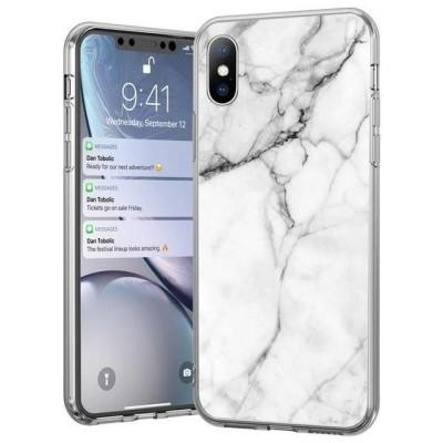 Θήκη Σιλικόνης για Xiaomi Redmi 8A - White Marble - OEM (200-105-086)