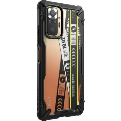 Ringke Fusion X Θήκη Xiaomi Redmi Note 10 Pro - Ticket Band / Black (8809785457090)