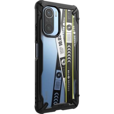 Ringke Fusion X Θήκη Xiaomi Poco F3 / Mi 11i - Ticket Band / Black (8809785457281)