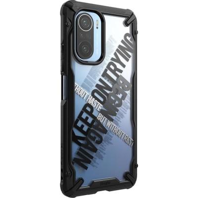 Ringke Fusion X Θήκη Xiaomi Poco F3 / Mi 11i - Cross / Black (8809785457311)