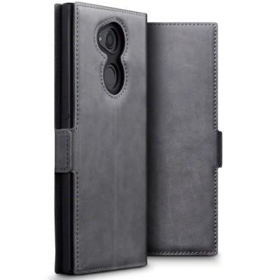 Terrapin Low Profile Δερμάτινη Θήκη - Πορτοφόλι Sony Xperia XA2 Ultra - Grey