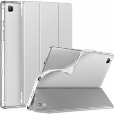 "Infiland Θήκη Smart Stand Samsung Galaxy Tab A7 10.4"" 2020 T500 / T505 - Silver (0555TU-W)"