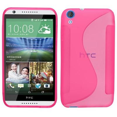 Θήκη σιλικόνης για HTC 820 ροζ