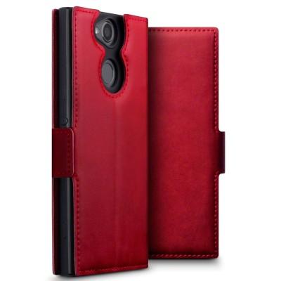 Terrapin Low Profile Δερμάτινη Θήκη - Πορτοφόλι Sony Xperia XA2 - Red