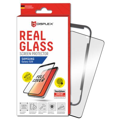 Displex Tempered Glass 3D Black - Fullface Αντιχαρακτικό Γυαλί Οθόνης Samsung Galaxy S20 - Black (01211)