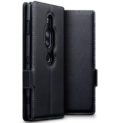 Terrapin Low Profile Δερμάτινη Θήκη - Πορτοφόλι Sony Xperia XZ2 Premium - Black