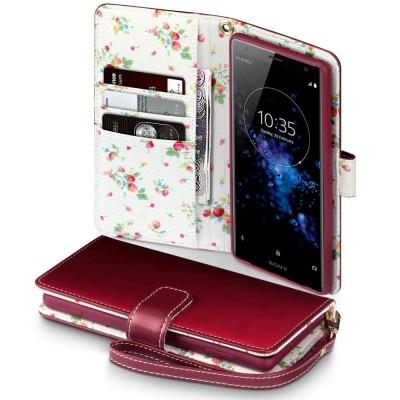 Terrapin Θήκη Πορτοφόλι Sony Xperia XZ2 Premium - Red Floral
