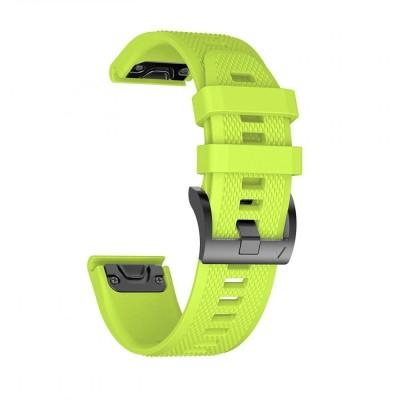 Ανταλλακτικό Λουράκι Smooth Garmin Fenix 3/5X (26mm) - OEM - Green