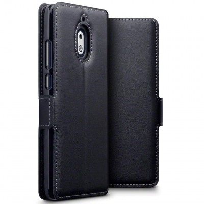 Terrapin Low Profile Δερμάτινη Θήκη - Πορτοφόλι Nokia 2.1 - Black