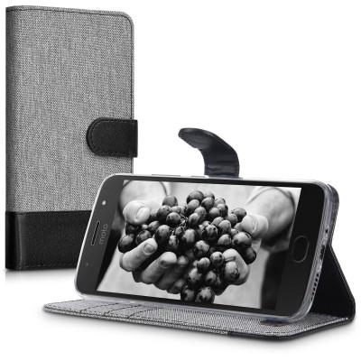 Θήκη-Πορτοφόλι για Motorola Moto G5S γκρι by KW
