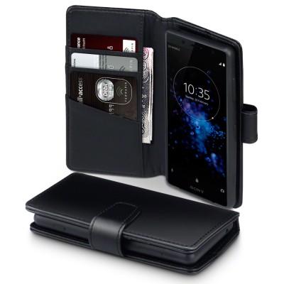 Terrapin Δερμάτινη Θήκη - Πορτοφόλι Sony Xperia XZ2 Compact - Black