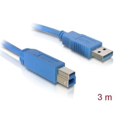 Delock USB 3.0 Data Cable M/M 3m Blue (82581)
