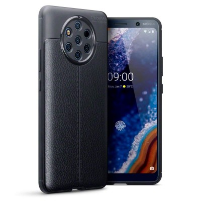 Terrapin Θήκη TPU Leather Design Nokia 9 Pureview - Black (118-001-296)