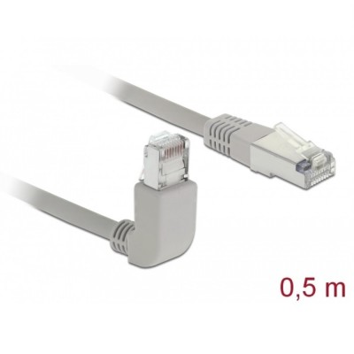 Delock Patch Cable S/FTP Cat.5e Angled / Straight 0.5m (83514)