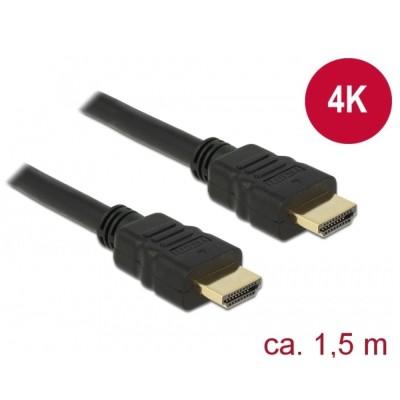 Delock HDMI Cable M/M 4K w/Ethernet 1.5m (84753)