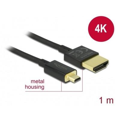 Delock Slim Cable HDMI > Micro HDMI M/M 3D 4K 1m (84781)