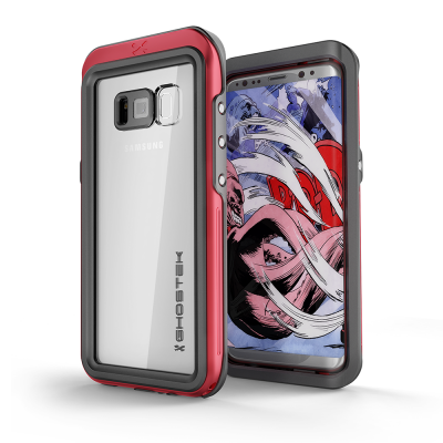 Ghostek Atomic 3 Αδιάβροχη Θήκη Samsung Galaxy S8 - Red