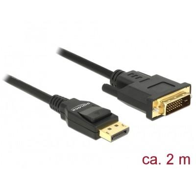 Delock Cable DisplayPort 1.2 > DVI-D 4K 30Hz 2m (85313)