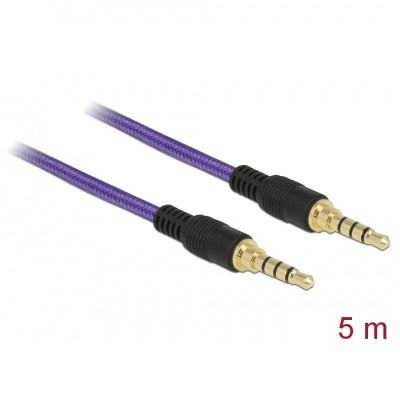 Delock Stereo Cable 3.5mm 4pin 5m Purple (85605)