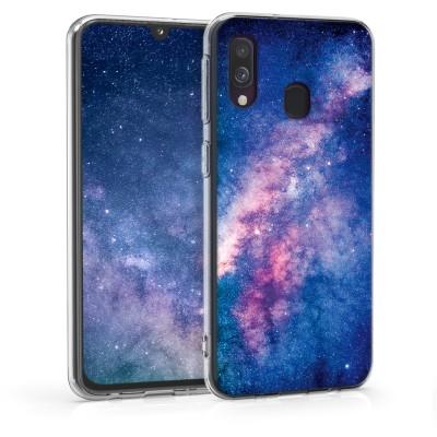 KW Θήκη Σιλικόνης Samsung Galaxy A40 - Starry Galaxy Light Pink / Dark Pink / Dark Blue (48543.04)