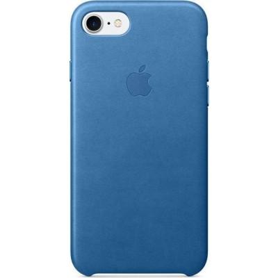 Official Apple Leather Case - Δερμάτινη Θήκη Apple iPhone SE 2020 / 8 / 7 - Sea Blue (MMY42ZM/A)