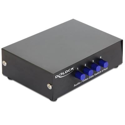 Delock Switch Audio / Video 4 port Manual Bidirectional (87637)