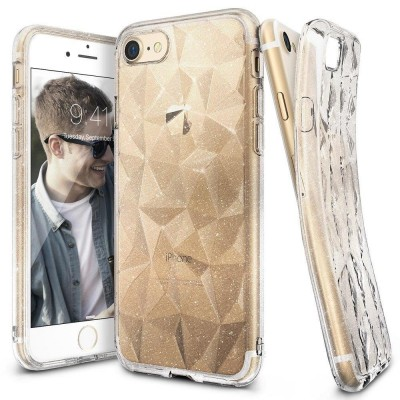 Ringke Air Prism 3D Glitter Pattern Flexible Θήκη Σιλικόνης Διάφανη για iPhone 7/8 (200-104-901)