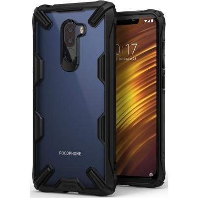 Ringke Fusion-X Θήκη Pocophone F1 με TPU Bumper - Black