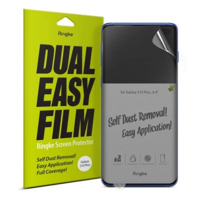 Ringke Dual Easy Full Cover Screen Protector Screen Protector Samsung Galaxy S10 + 2 τεμάχια