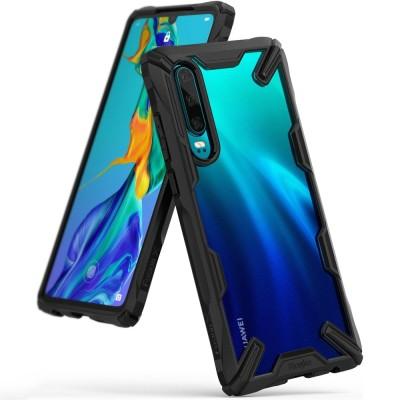 Ringke Fusion-X Θήκη Huawei P30 - Black / Transparent (200-104-509)