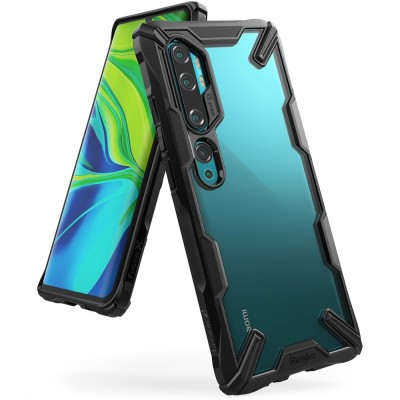 Ringke Fusion-X Θήκη Xiaomi Mi Note 10 / Mi Note 10 Pro / Mi CC9 Pro με TPU Bumper - Black (200-105-692)