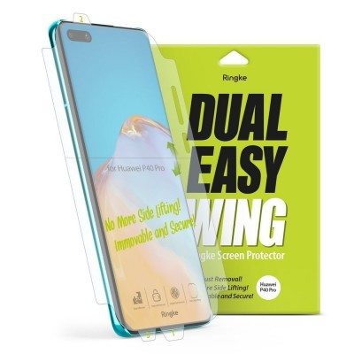 Ringke Easy Full Cover Case Friendly Screen Protector για Huawei P40 Pro - 2 τεμάχια ( 200-106-168)