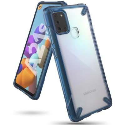 Ringke Fusion-X Θήκη Samsung Galaxy A21s με TPU Bumper - Blue (200-106-008)