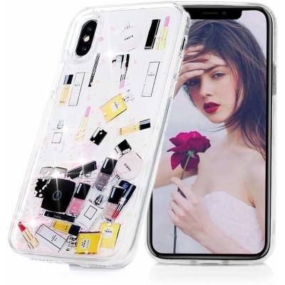 OEM Θήκη Σιλικόνης Huawei Mate 20 Lite - Liquid Make Up Glitter pink (200-104-998)