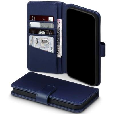 Terrapin Δερμάτινη Θήκη Πορτοφόλι Apple iPhone 12 Pro Max - Blue (117-135-005)