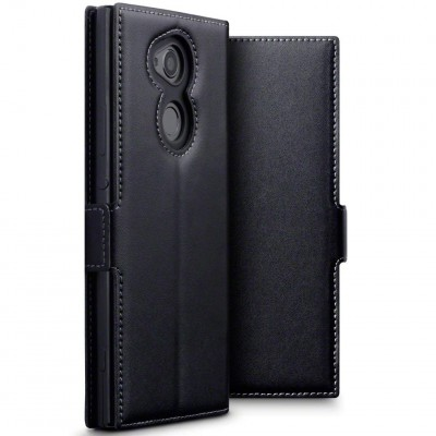 Terrapin Low Profile Δερμάτινη Θήκη - Πορτοφόλι Sony Xperia XA2 Ultra 2018 - Black