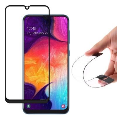 OEM Full Cover Flexi Nano Tempered Glass Black Edge για Samsung Galaxy A50 (200-105-612)