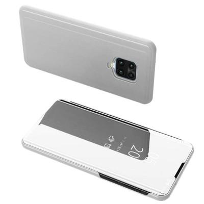 Θήκη Clear View Standing Cover για Xiaomi Redmi Note 9 / Redmi 10X 4G Ασημί - OEM (200-105-857)