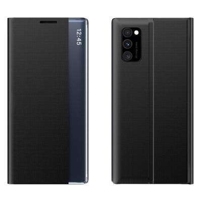 OEM New Sleep Flip Cover Case Θήκη με Ημιδιάφανο Παράθυρο Samsung Galaxy A51/A31 - Black (200-106-634)