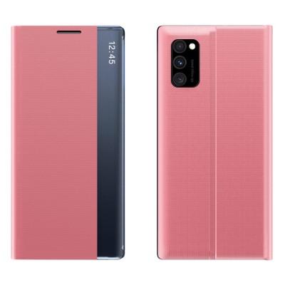 OEM New Sleep Flip Cover Case Θήκη με Ημιδιάφανο Παράθυρο Samsung Galaxy A51/A31 - Pink (200-106-635)