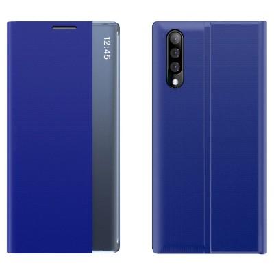 OEM New Sleep Flip Cover Case Θήκη με Ημιδιάφανο Παράθυρο Samsung Galaxy A50 - Black (200-106-636)
