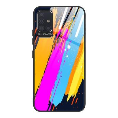 OEM Θήκη Color Tempered Glass Samsung Galaxy A51 - Pattern 3 (200-105-981)