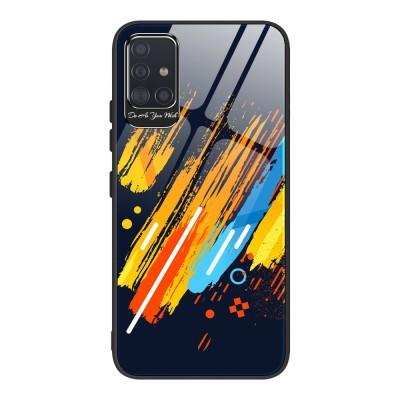 OEM Θήκη Color Tempered Glass Samsung Galaxy A71 - Pattern 5 (200-105-984)