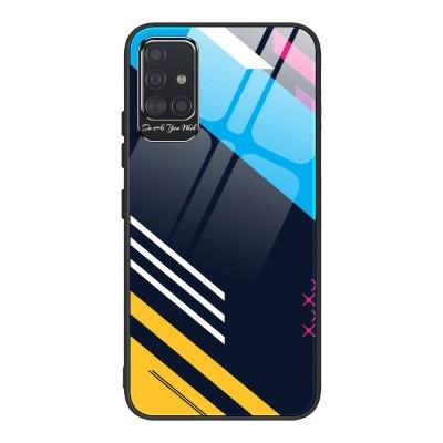 OEM Θήκη Color Tempered Glass Samsung Galaxy A71 - Pattern 2 (200-105-985)
