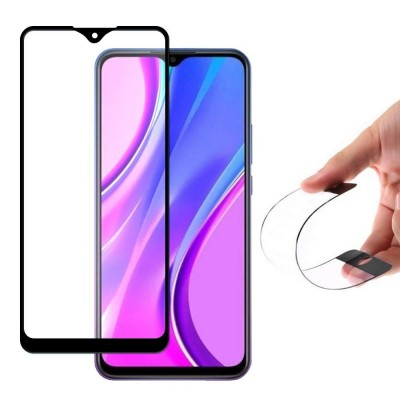 Wozinsky Full Cover Flexi Nano Tempered Glass Black Edge για Xiaomi Redmi 9 (200-106-023)