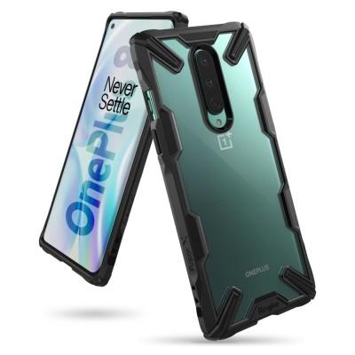Ringke Fusion X Θήκη Σιλικόνης OnePlus 8 - Black (72419)